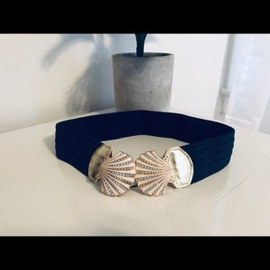 Lilly Pulitzer Navy Seashell Belt | Size XS/S